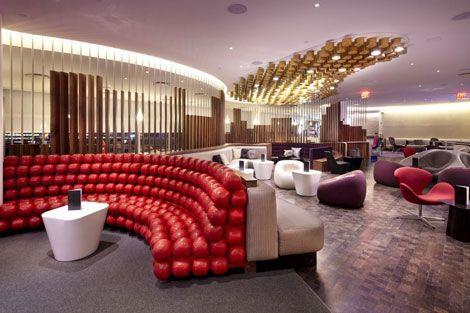 Virgin Lounge | Airport lounge | Contract furniture #airportlounge #contractfurniture Read more at: www.brabbu.com