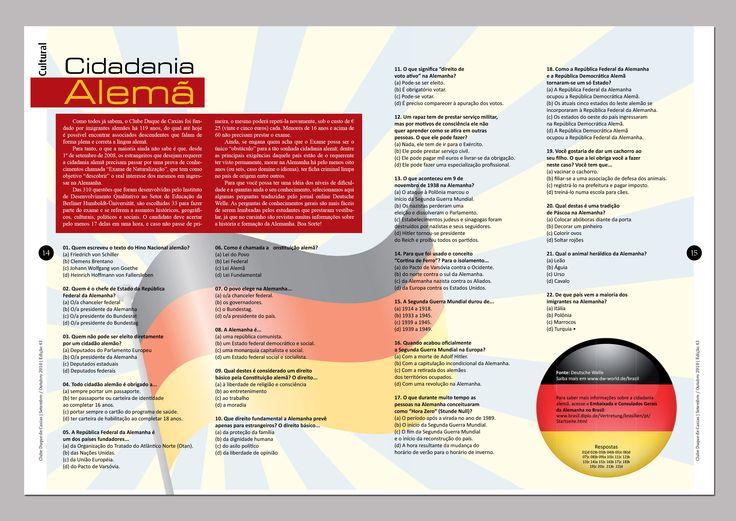 """""""Cidadania Alemã"""" Revista Duque n.43 #Teste #Alemanha #Diagramação #Layout em Revista"""