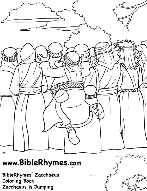 franco zacchaeus coloring pages - photo#8