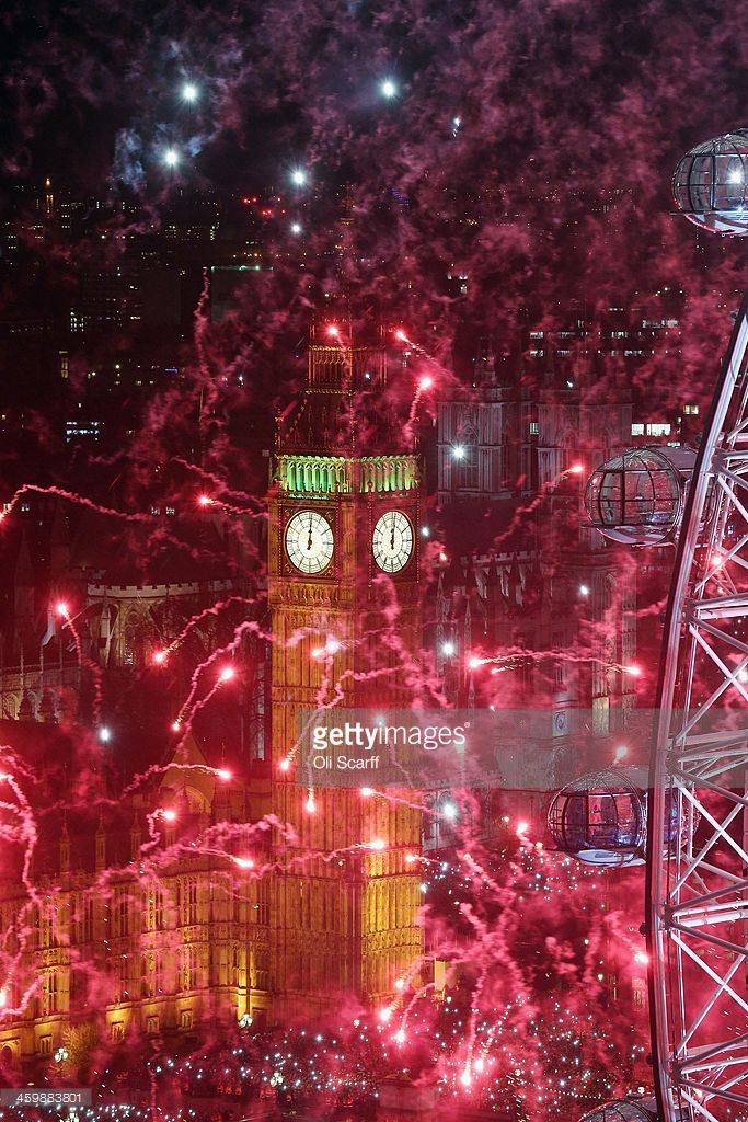 Fireworks light up the London skyline and Big Ben just after midnight on January 1, 2014 in London, England. Thousands of people lined the banks of the River Thames in central London to see in the New Year with a spectacular fireworks display.