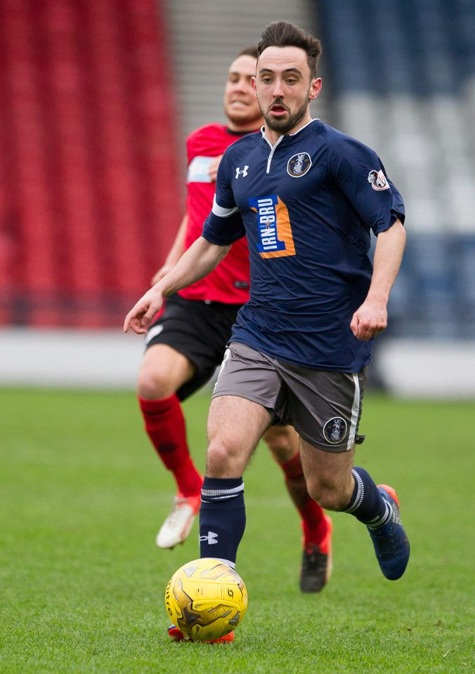 Queen's Park's Anton Brady in action during the Ladbrokes League One game between Queen's Park and Brechin City