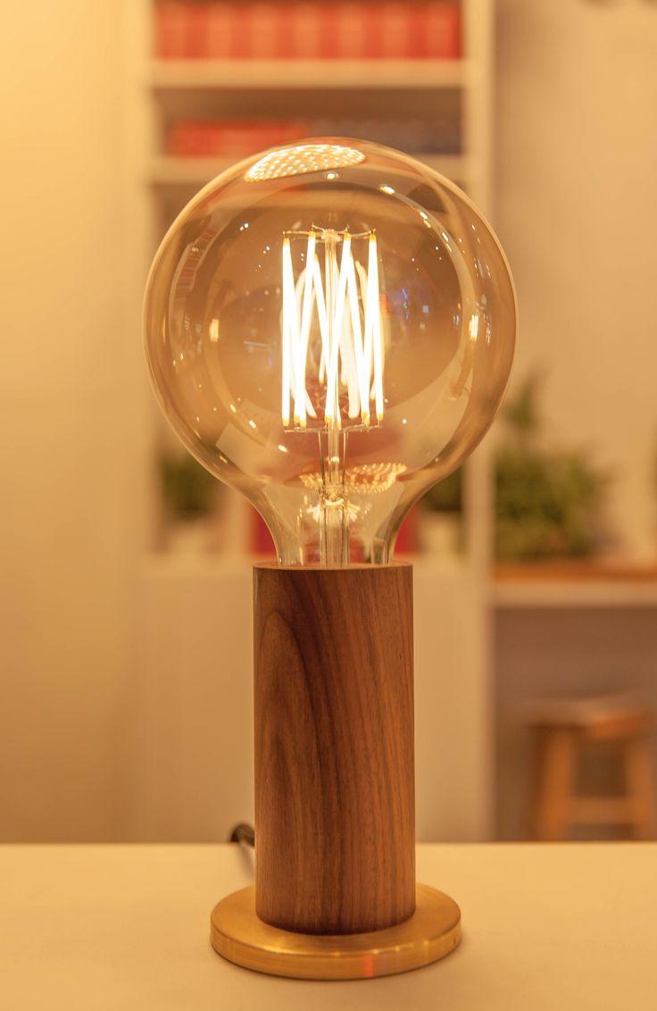 Teardrop st64 william and watson vintage edison bulb industrial light - Walnut Touch Lamp Tala Www Talaled Com