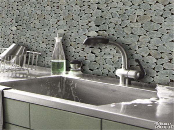 Sliced Pebble Stone Pebble Tile Back Splash