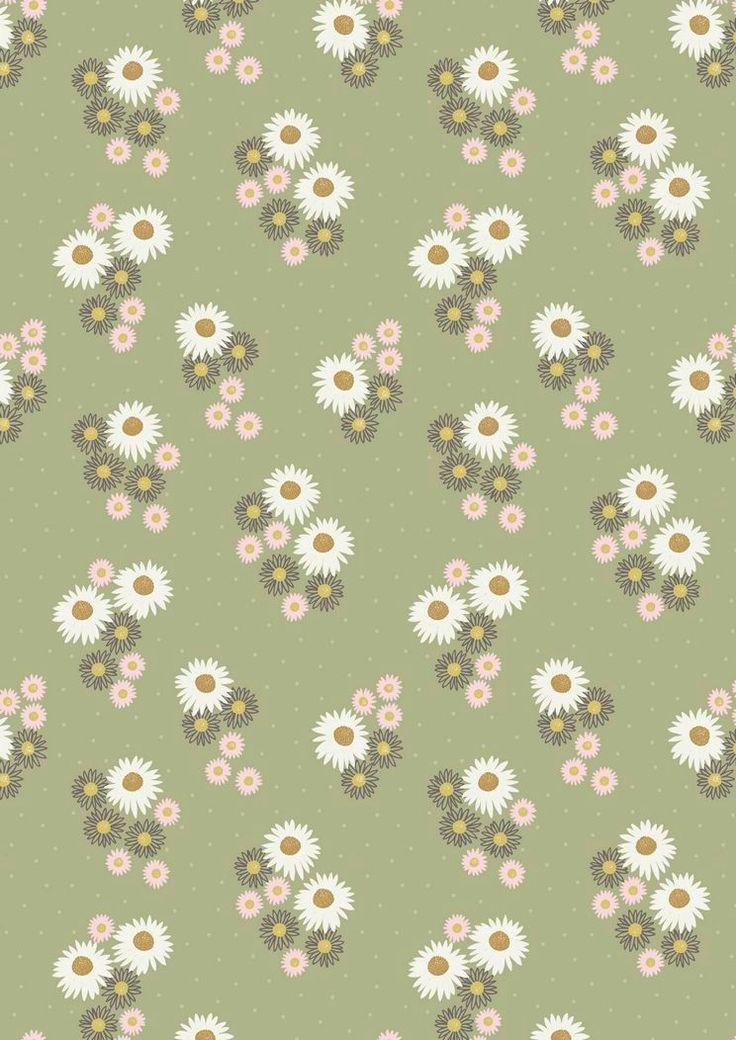 FLO12.4 - Daisies On Sage Green