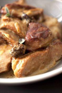 Sauté de veau au cidre et aux morilles 3