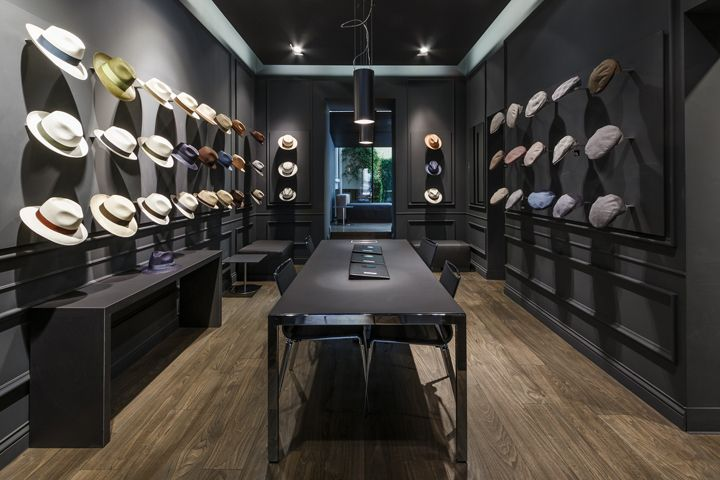 Borsalino flagship store and showroom by Newtone Milan  Italy