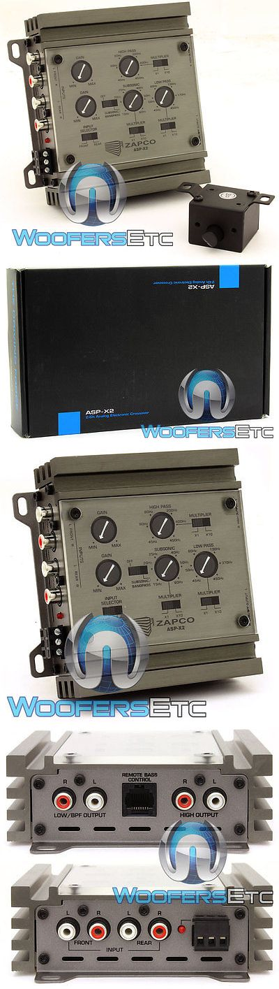 Audio Video Remotes: Zapco Asp-X2 Car Audio 2-Way Electronic Crossover 9.5 Volt Rms Line Driver New -> BUY IT NOW ONLY: $189.95 on eBay!