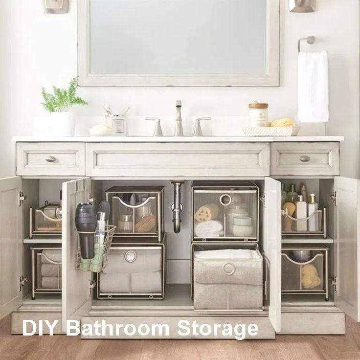 New Diy Bathroom Storage Ideas In 2020 Diy Bathroom Diy Bathroom Storage Diy Bathroom Design