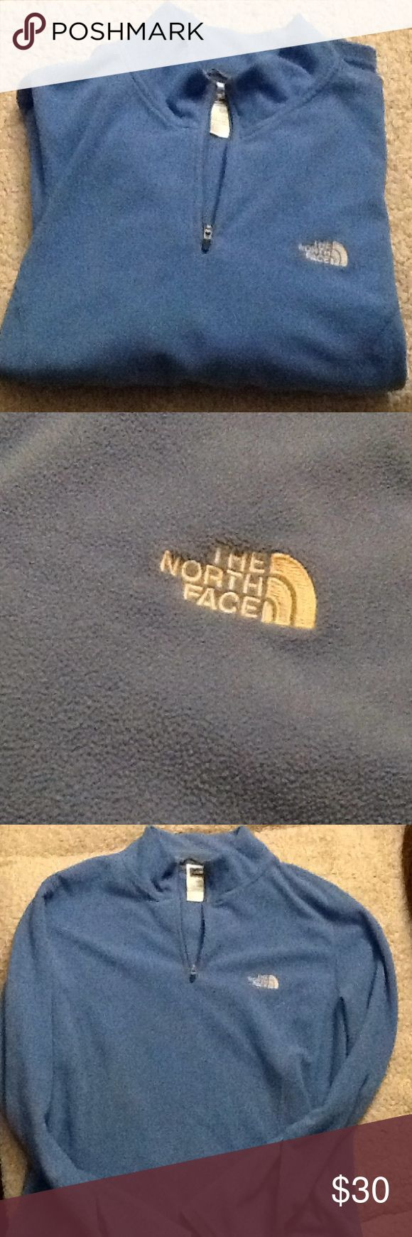 North face blue x-large half zip sweater Gently worn. Xlarge The North Face Sweaters
