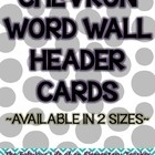 These Chevron Word Wall Header Cards are perfect to use on your word wall display.  They are available in 2 sizes for your convenience.  Please let...