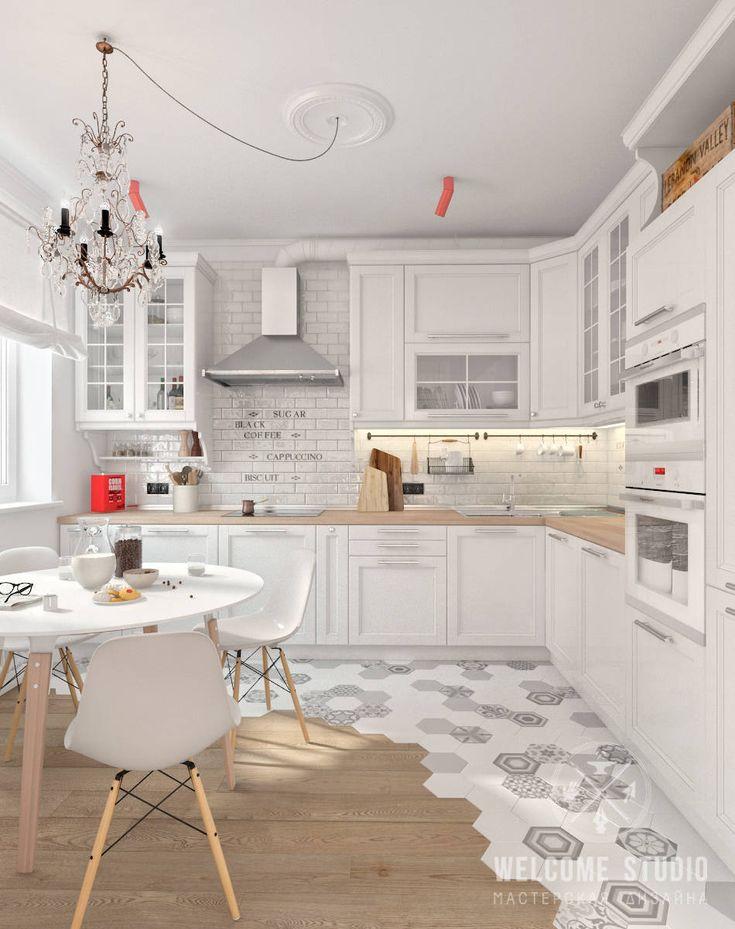Skandynawska kuchnia od Мастерская дизайна Welcome Studio