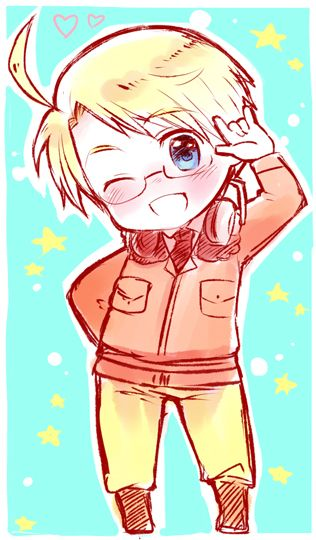 Chibi America...So cute!!! ^__^ #Hetalia