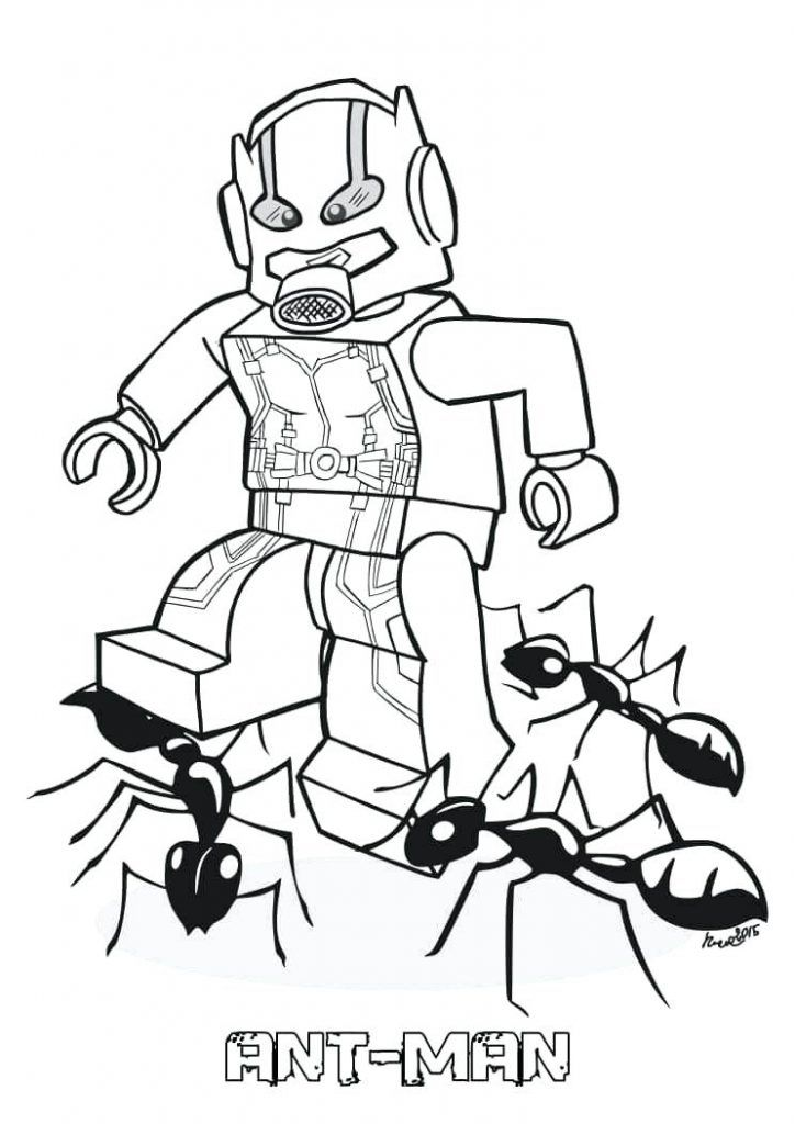 Ant Man Coloring Pages Superhero Coloring Pages Avengers