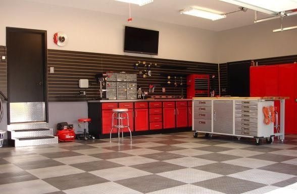 Garage my man cave garage ideas pinterest men cave for Man cave garage floor ideas