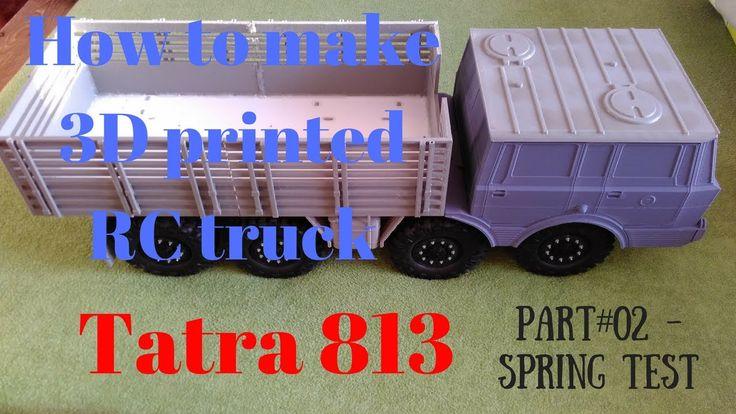 3D printing RC truck 1/10 body Tatra 813 - spring test