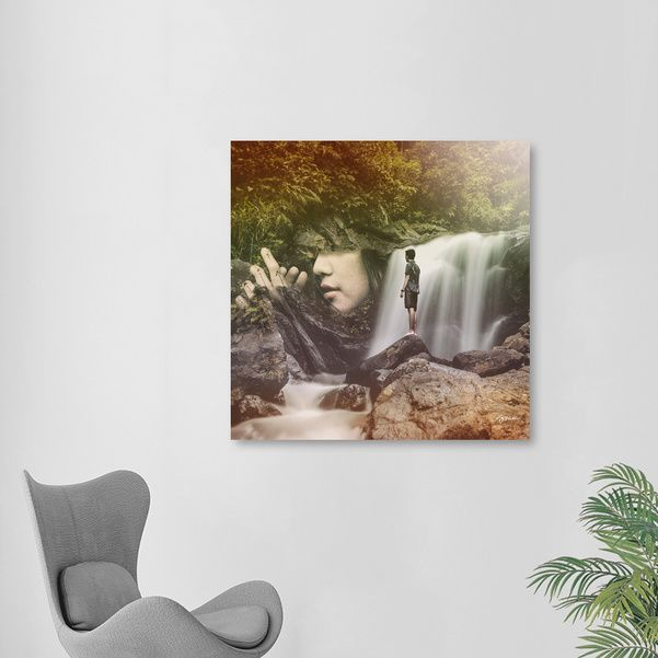 Discover «Forest Girl», Limited Edition Aluminum Print by Stefania Piredda - Giffyart - From 95€ - Curioos