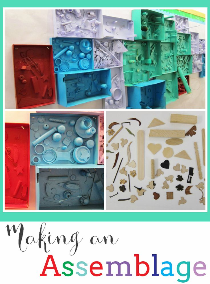 Learning about Louise Nevelson and making an assemblage with children