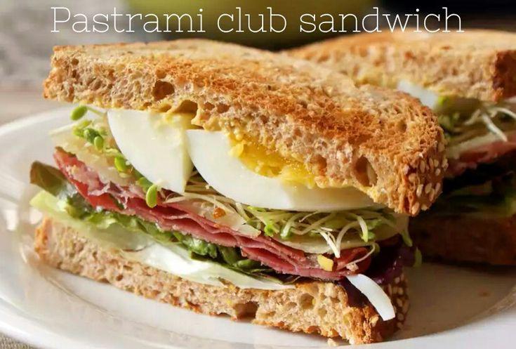 Pastrami club sandwich - panino gourmet