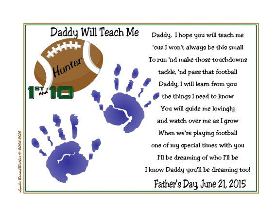 father's day football poem - Google Search