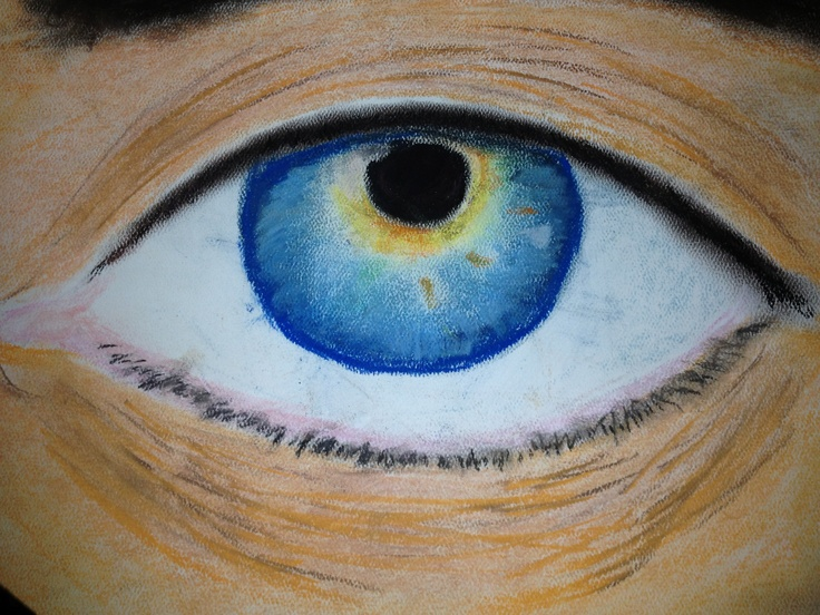 the eye of truth done with oil pastels