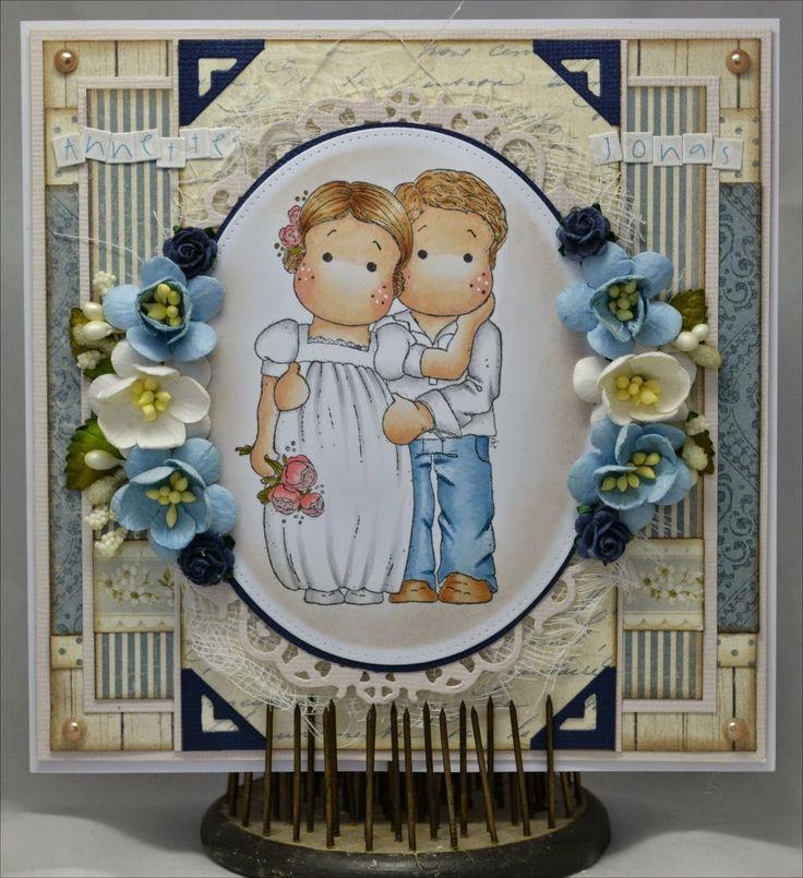 Christinas Scrapkammare: Bröllopskort 1