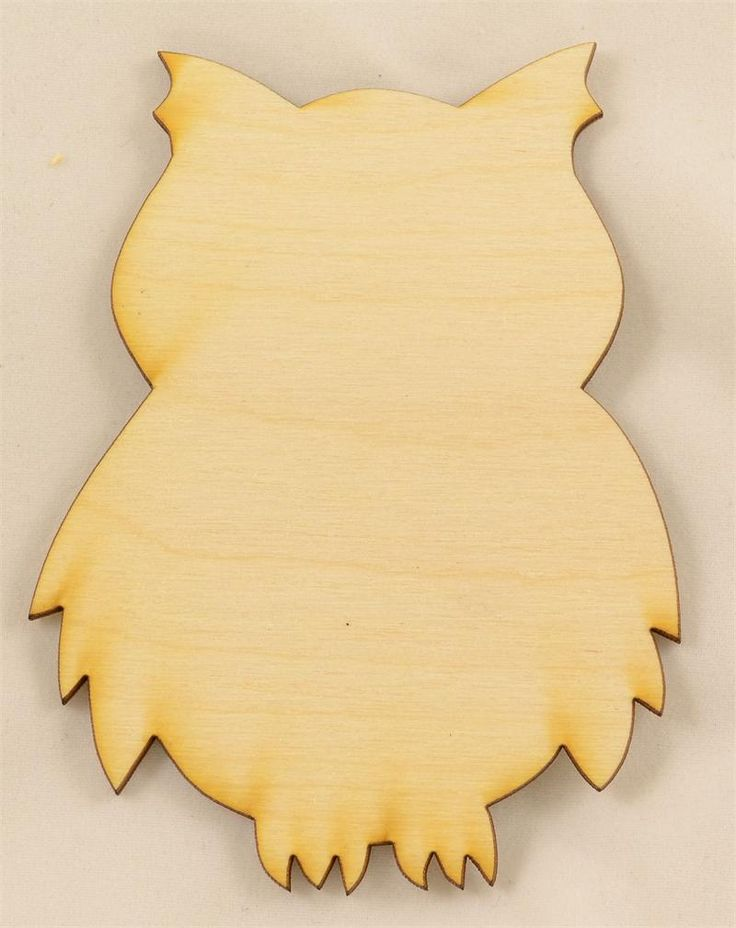 Owl Wood Cutout | Unfinished Wood Cutouts and Shapes | Animal Cutouts