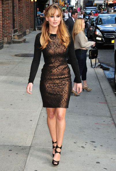 Jennifer Lawrence Photos: Jennifer Lawrence Stops By The Letterman Show