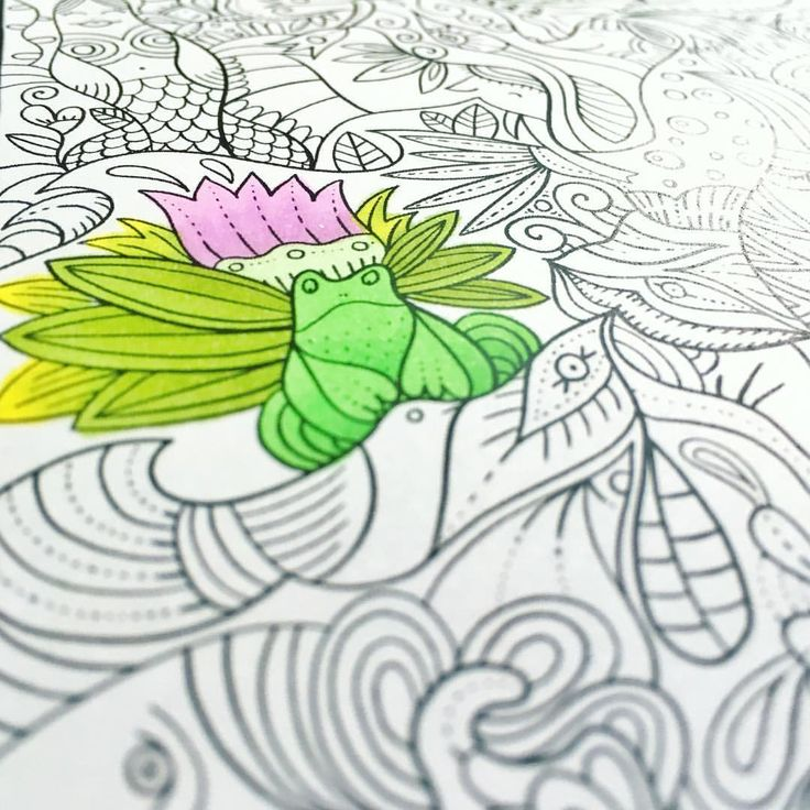 "Mental Images Coloring Books (@paivivesala_art) on Instagram: ""He is trying to hide on the page. * Coloring book: Mental Images vol 2 (Amazon)"""