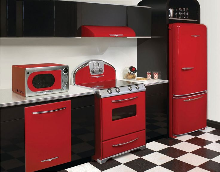 50s Kitchen (red and black with checkered floors)