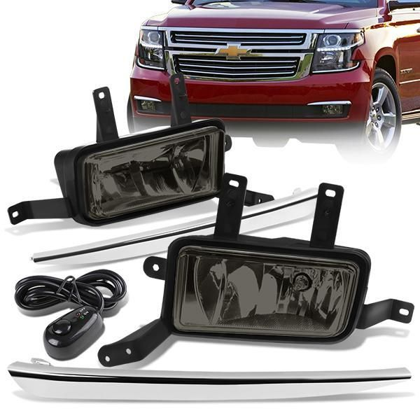Smoked Lens Fog Light Bumper Lamps w//Switch+Harness+Bezel for 14-16 Nissan Rogue