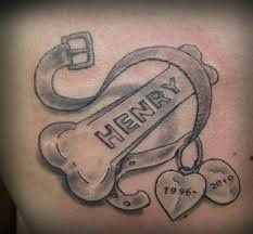 Memorial Tattoo, I would love to get this someday for my dog Katie (1997-2011)
