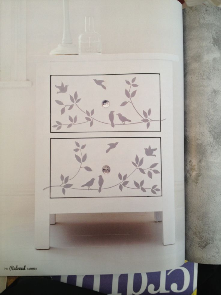 Bird drawers upcycled project in Reloved magazine