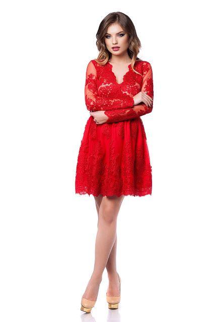 Fashion Trends Romania: Rochie Norina Rosie 2017