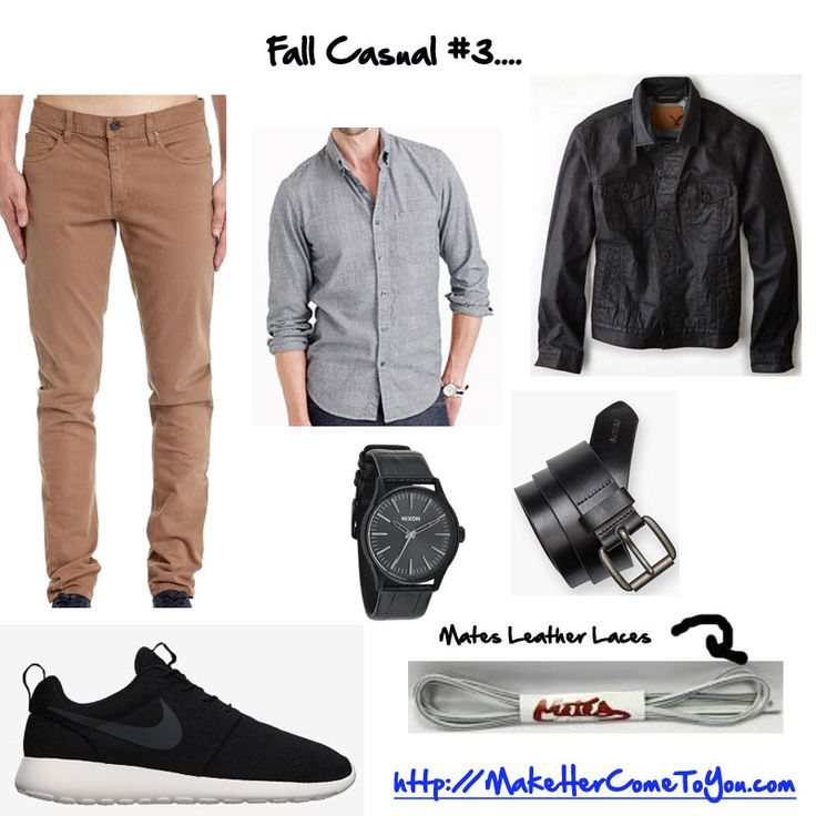 Keeping with the fall trend this week. Shirt @jcrew Jacket @americaneagle Pants @cottonon Watch @nixon Belt @levis Shoes @nike roshe runs Leather laces @matesbrand   Free PDF - http://makehercometoyou.com #mensstyle #mensfashion #mensstreetstyle #dapper #streetstyle #wiwt #mensstyleguide #instafashion #handsomeguysecrets #teamhandsomeguy #datingadvice #firstdate #whathewore #whattowear #mystyle #menswatches #rosheruns #roshe #sneakerhead