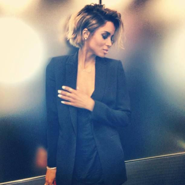 ciara short hair ombrein the process of doing