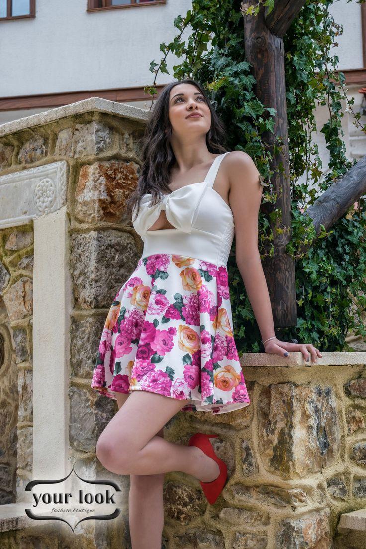 floral dress yourlook.gr