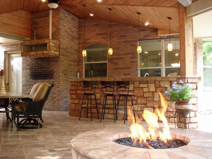 Bar And Firepit Area In A Covered Patio; One Of The Options In Outdoor  Homescapes Of Houstonu0027s Vote Contest Sponsored By Wishpond. More Deta.