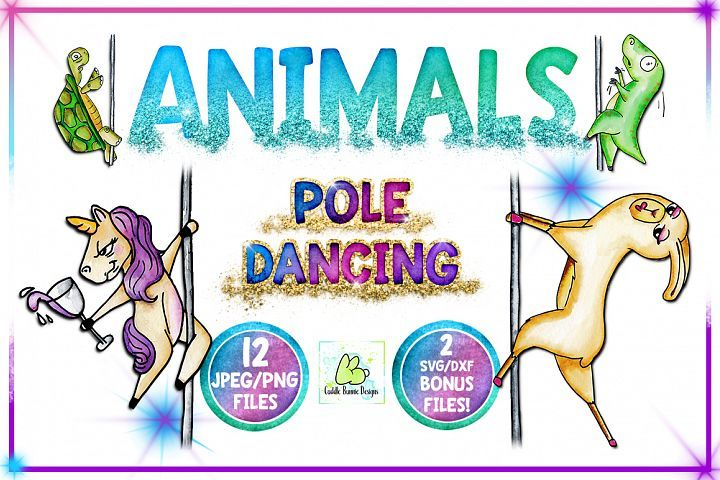 Download Clipart, Sublimation, Funny Animal,Pole Dancing, Unicorn ...