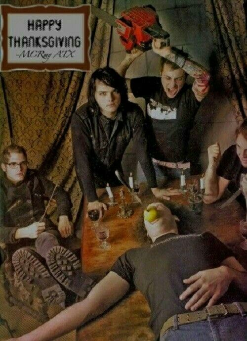 "Imagine showing this to someone who's never heard of mcr and being like ""what's going on in this pic?"""