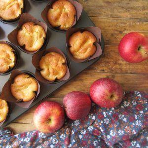Muffin con mele e ricotta