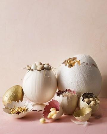 Paper Mache Eggs vkwhitehead