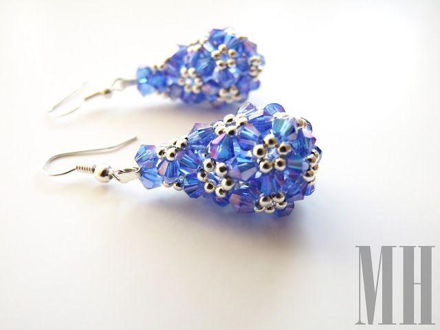 Kolczyki (beaded drop) niebieskie | MH Biżuteria - cuda ręcznie wykonane