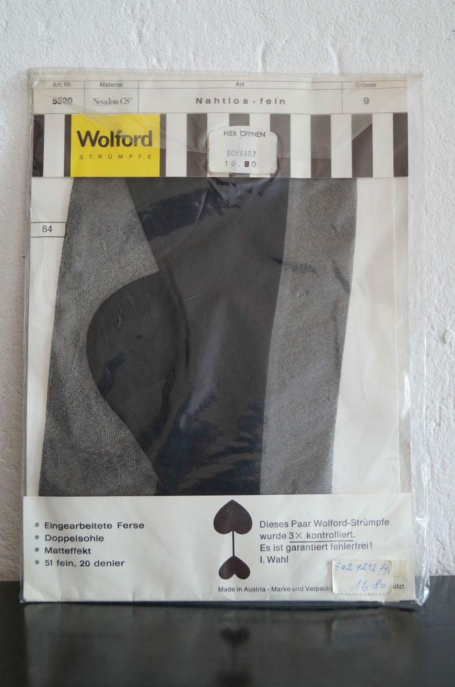Vintage  Wolford Strümpfe stockings made in Austria schwarz black | eBay