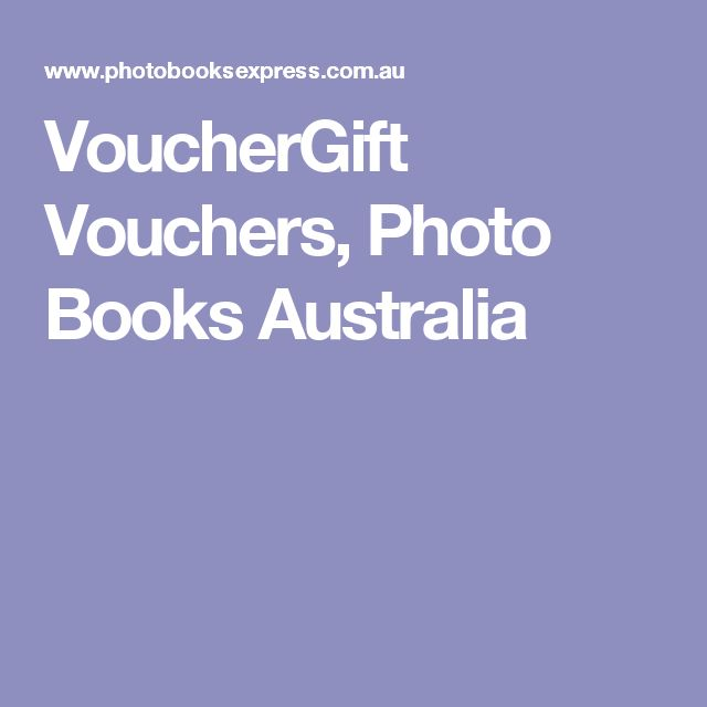 VoucherGift Vouchers, Photo Books Australia