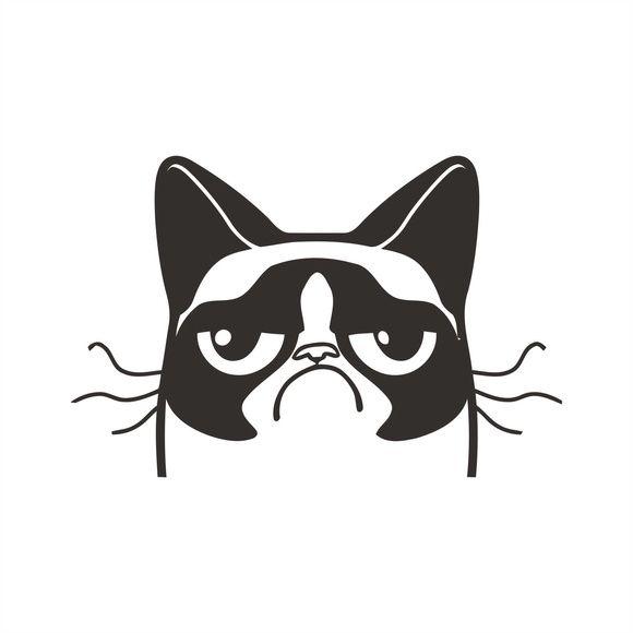 Adesivo Gato Mal Humorado Grumpy Cat