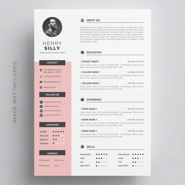 Download Modern Simple Template For Curriculum For Free Resume Design Template Simple Resume Template Resume Design Creative