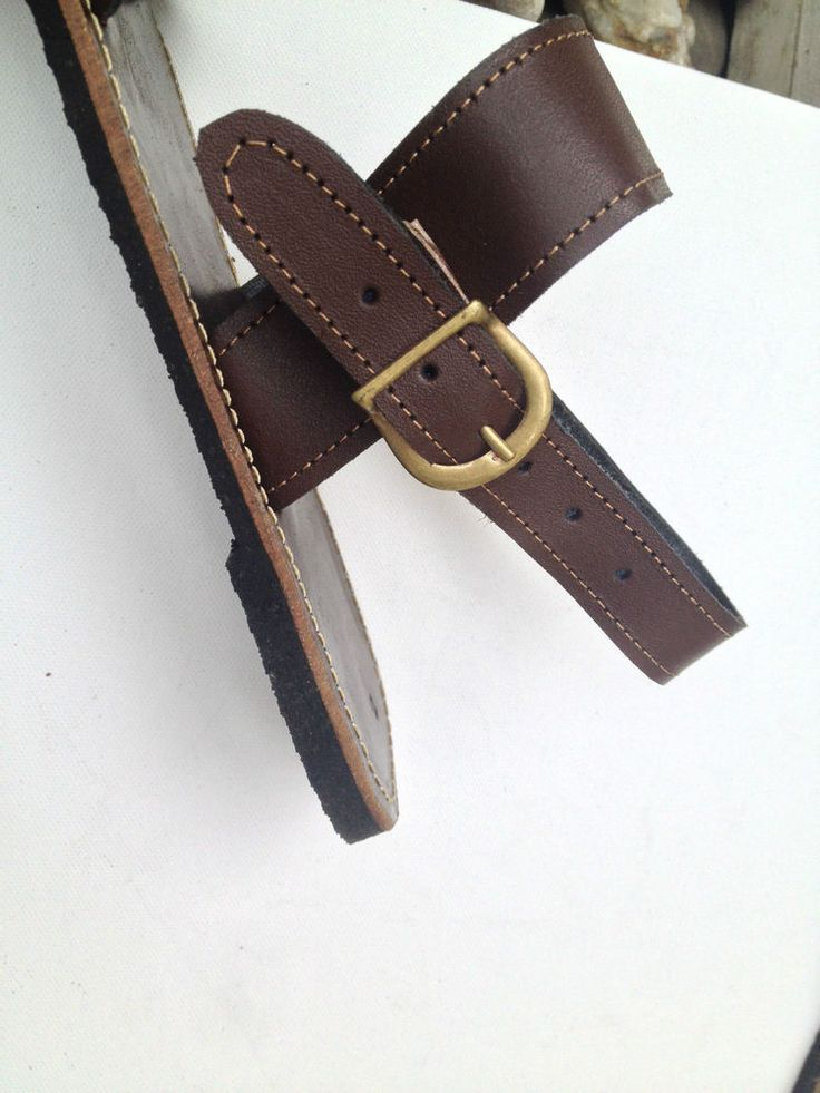 Men s #JesusChristSuperSandals! As seen on @BritishGQ #GQ £25 Dark Brown - Handmade Brazilian Cow Leather
