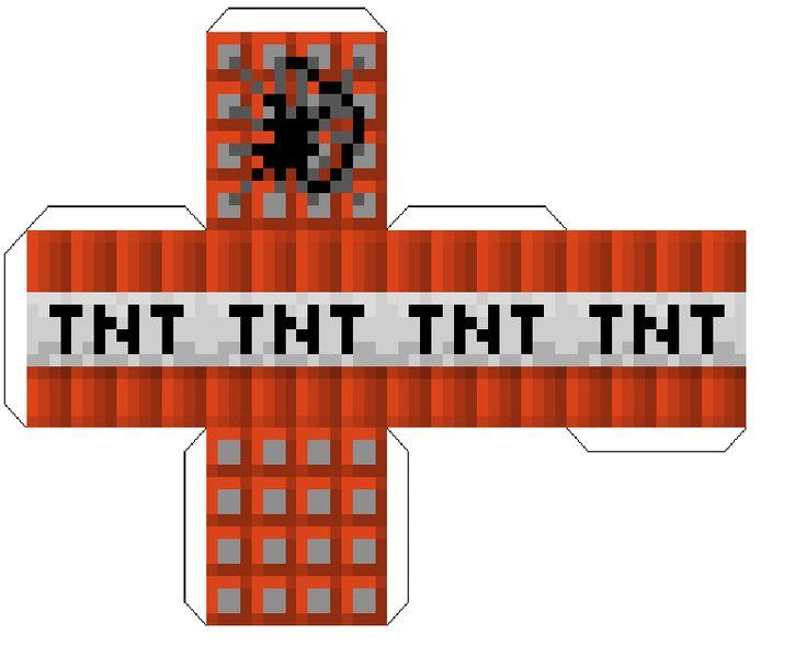 TNT - foldable paper craft | Minecraft party, Minecraft ...