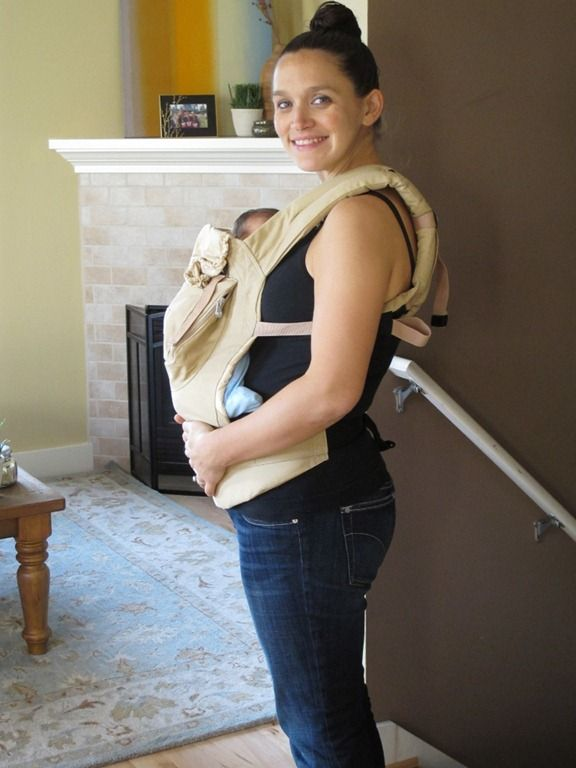 tip for using carrier with a newborn