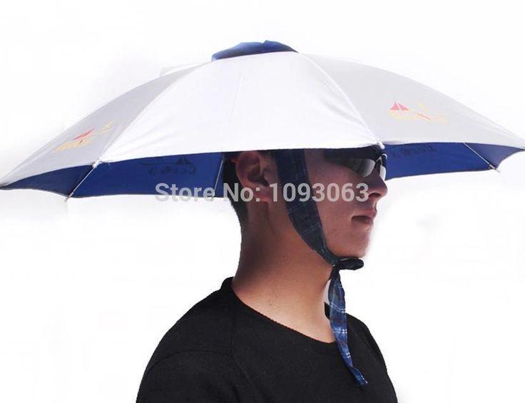 Зонтик Hat Cap для Рыбалки Кемпинг Складной Солнце Дождь УФ Защита Складной Рыболовные Снасти купить на AliExpress